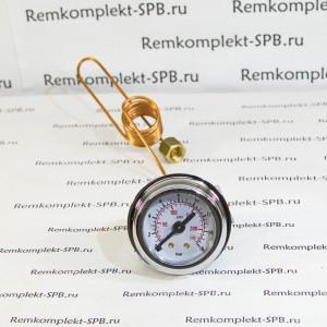 Манометр 16 bar ø 41 мм с трубкой для кофеварок