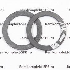 Плоское уплотнительное кольцо / прокладка ø 57x43x3 мм (уголь)