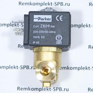 2х ходовой эл-магнитный клапан PARKER 230В 50/60Гц - 9W / ø 2,5 мм / ø 1/8 для профессиональных кофемашин