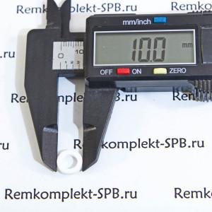Плоское уплотнение / прокладка ø 10x6x2мм PTFE / фторопласт
