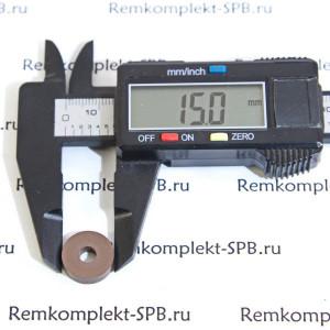 Уплотнитель плоский ø15x5x4 mm VITON