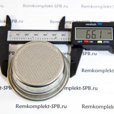 2-порционный фильтр для холдера 12 г ø 66x24 mm