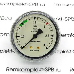 Манометр БОЙЛЕРА ø 62 мм 0÷3 бар