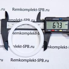 Уплотнительное плоское кольцо  ø 68х55х3 мм - фторопласт