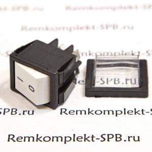 Белый 2-полюсный выключатель 16А 250В